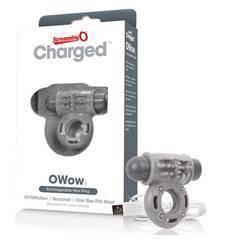 Anel Vibratório Recarregável ScreamingO Charged OWow Cinzento