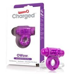 Anel Vibratório Recarregável ScreamingO Charged OWow Roxo