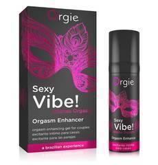 Gel Excitante com Efeito Vibrante Orgie Sexy Vibe! Intense Orgasm 15 ml.