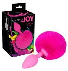 Plug Anal com Cauda de Coelhinho Colorful Joy Bunny Tail Rosa
