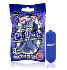 Mini Vibrador ScreamingO Soft Touch Vooom Bullets Azul
