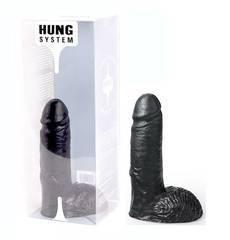 Dildo Marcel Hung System Preto 17 cm