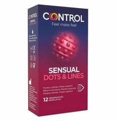 Preservativos Control Sensual Dots & Lines 12 un