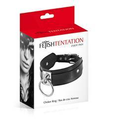 Coleira Chocker Ring Fetish Tentation