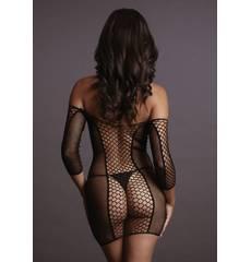 Mini vestido em rede Le Désir by Shots