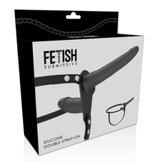 Strap On Duplo Fetish Submissive Preto