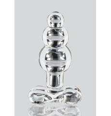 Plug Anal em Vidro Glass Worxx Crystal Jewel