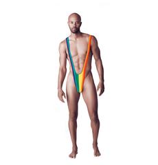 Body Masculino Rainbow Mankini