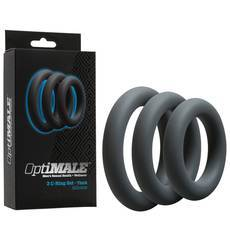 OptiMALE C-Rings Conjunto de 3 Aneis Antracite