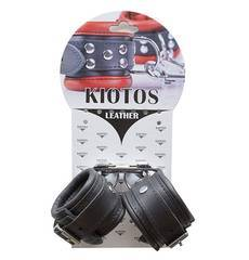 Algemas para Pulsos em Pele Genuína Kiotos Pretas