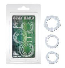 Anéis Stay Hard Transparentes 3 un.