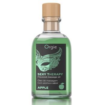 Óleo de Massagem Afrodisíaco com Efeito Calor Orgie Sexy Therapy - Maçã 100 ml