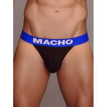 Cueca Desportiva Macho Underwear MS079 Preto & Azul