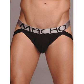 Jockstrap Macho Underwear MX083 Preto & Cinza
